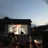 野外上映会で日本の美に酔いしれる