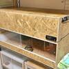 リクガメ用自作木製ケージ完成です。