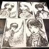 #403 いの町(高知県)で買った和紙ではがき絵を描く。