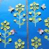 菜の花の切り絵