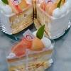 桃のショートケーキ