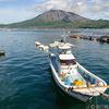 海潟漁港から見える桜島