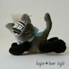 【iichi 出品】ねそべりこぎん猫と、マレーグマスコット…