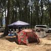 ハワイ米軍の敷地でキャンプ