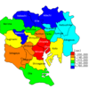 Household Income by Ward in Tokyo 23 Wards, 2013