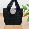 笹和紙のバッグを編みました。