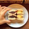 マメヒココーヴァイブ限定の絶品りんごメニュー!全粒粉円パンろ使ったりんごのホットアンドはソテーされたりんごとあんこの相性抜群のかわいい秋メニューです!