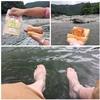 愛車VOXYで吉野川へ涼みに