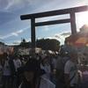 神社祭り!