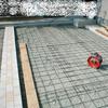 土間コン工事2−7(インターロッキング絡みの中規模例)