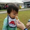 子どもに蒜山ジャージーソフトクリームとられた。美味しかったのに。