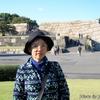 日本 背景は江戸城の天守台