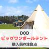 DOD「ビッグワンポールテント」は初心者家族におすすめのテント!購入前に知っておきたい注意点(T8-200T・口コミレビュー)