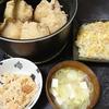 袋煮、酢の物、おこわ、味噌汁