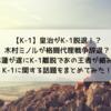 【K-1】皇治がK-1から離脱!?木村ミノルは格闘代理戦争を辞退?平本蓮はK-1との契約が遂に満了?K-1についての最近の話題をまとめてみた!