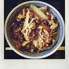 吉野家の「牛丼・並盛」を無料で食べました。