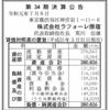 株式会社ラフォーレ原宿 第34期決算公告