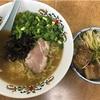 幸龍の青ネギラーメンと豚角煮丼