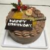 1日遅れの誕生日ケーキ