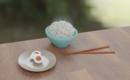 3DCGで米と卵と箸を作った