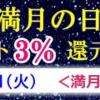 7/5(日)は満月の日でポイントアップデー☆