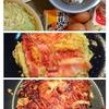 お好み焼きと天津飯と弁当と生理痛。