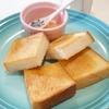 トーストと白桃バター