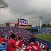 雨の神宮球場カープ戦