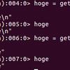 Ruby の gets は、改行付きの文字列を返す