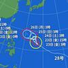 台風12号はドルフィン台風13号の名前はクジラです。台風29号「ウサギ」台風の名前の付け方