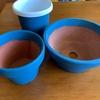 素焼き植木鉢のリメイクにターナー色彩のミルクペイント for ガーデンを使ってみた。