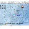 2017年08月28日 05時40分 奄美大島北東沖でM3.3の地震