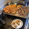 幸運な病のレシピ( 965 )夜:唐揚げ一式(鳥、レバ、小丸ジャガイモ、市販品イカリング)、汁
