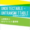 『UNDETECATABLE = UNTRANSMITTABLE(検出限界以下なら感染はしない)』日本語仮訳版