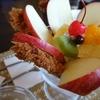 松山の隠れた名物「とんかつパフェ」。とんかつ屋さん清まるにてとんかつの締めにとんかつはいかが?