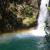 虹~にこ淵の滝の水しぶき