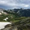 双六岳、笠ヶ岳:南アルプス小屋泊縦走
