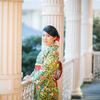 上野公園から旧岩崎邸庭園で着物ポートレート