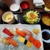 寿司ランチ。今日は打ち合わせばっかりで疲れたわ。