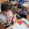 6年生:図工 一瞬の形から 彩色