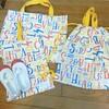 入園準備♪3coinsで袋物、セリアで超簡単名前付けグッズを♪
