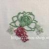 多肉植物の刺繍をサテンステッチ&バックステッチで模索中です