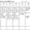 8月17〜23日トレーニング計画