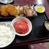 西川口の「あおき食堂」で焼豚とカツとクリームコロッケ定食を食べました★