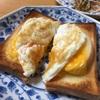 りんごとチェダーチーズのオープンサンド