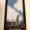 sun and moon tarot : five of swords - defeat