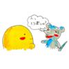 モロちゃん4コマ劇場「モロちゃんのお誘い」