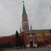 モスクワでホテルのシャトルバスに乗る