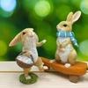 ウサギの置き物とグリコえほん~かわいいウサギと小さな絵本~