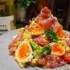 【レシピ】レンジで時短!半熟味玉と生ハムのポテトサラダ!